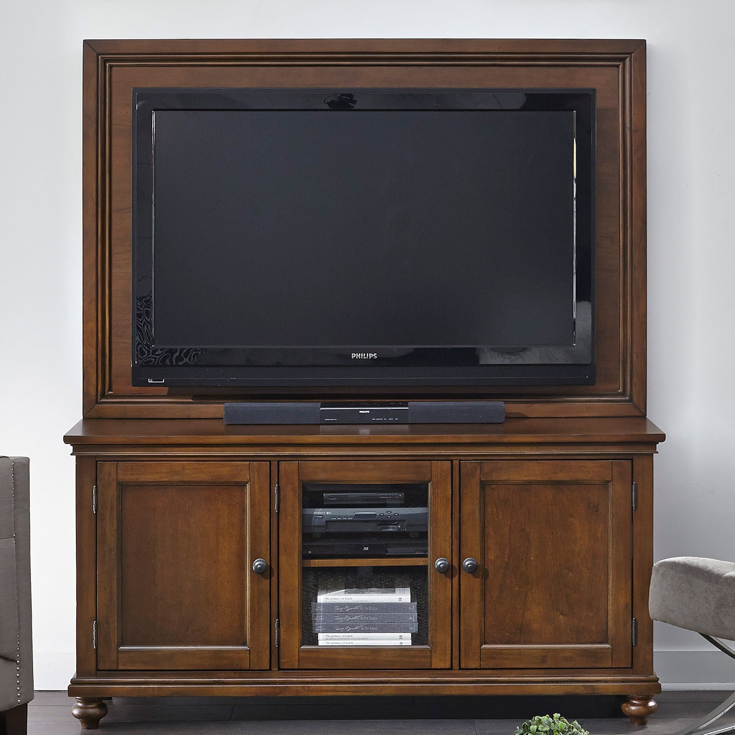 "Oxford 65"" TV Stand With Backer by Aspenhome at Factory Direct Furniture"