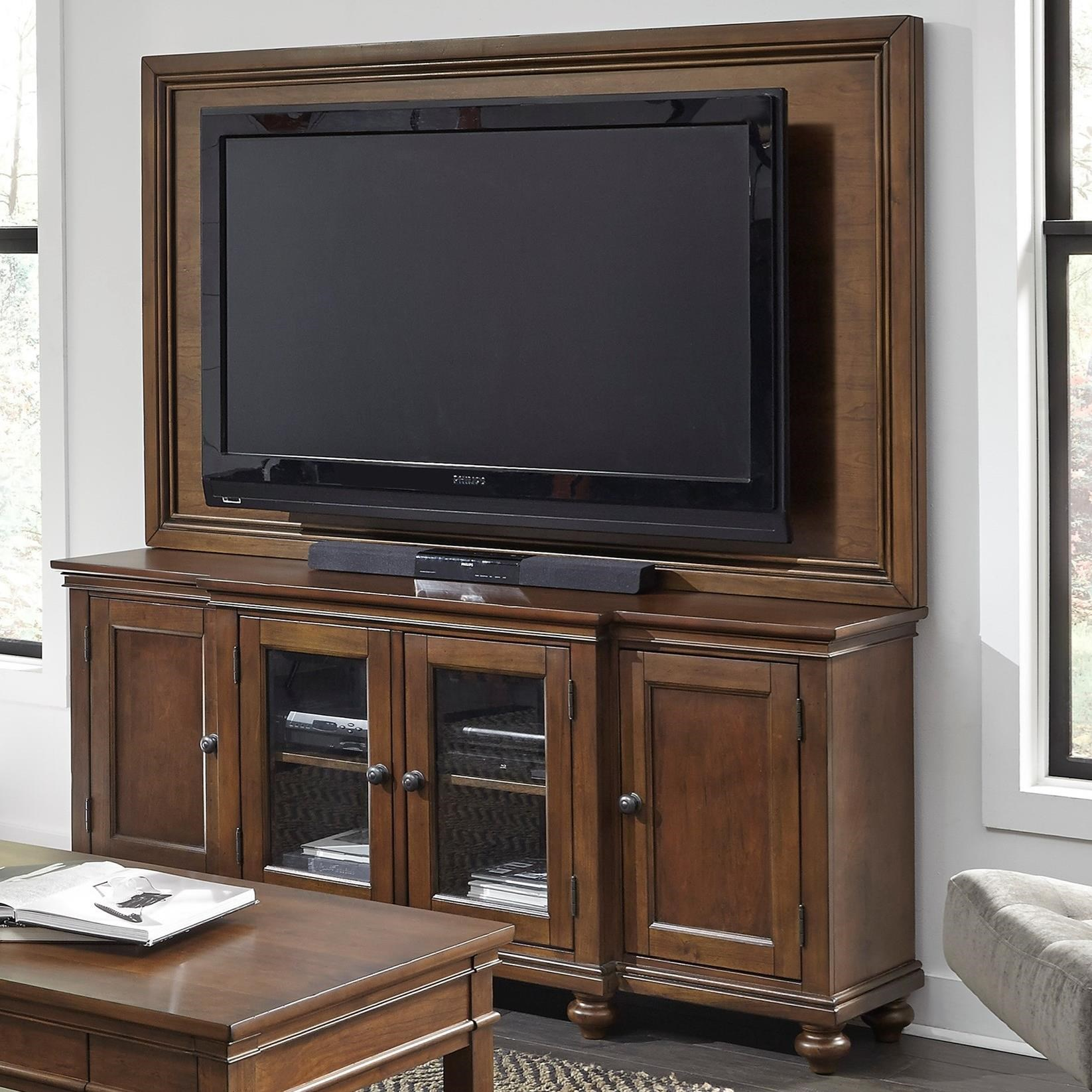 "Oxford 75"" Media Console and TV Backer by Aspenhome at Baer's Furniture"