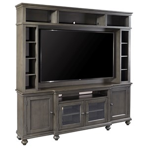 "86"" Console and Hutch with Sound Bar Compartment"