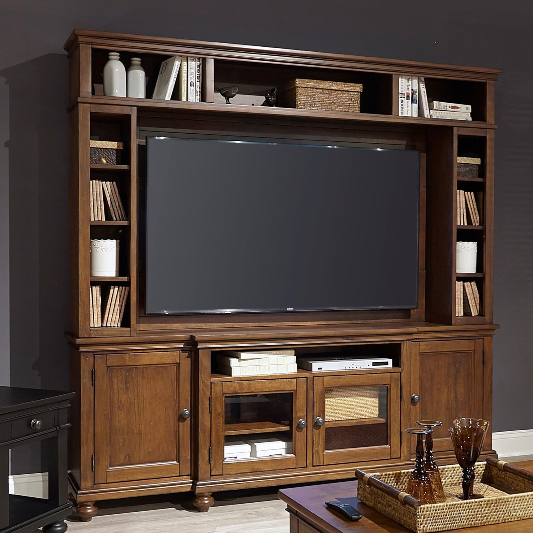 """Oxford 86"""" Console and Hutch  by Aspenhome at Baer's Furniture"""