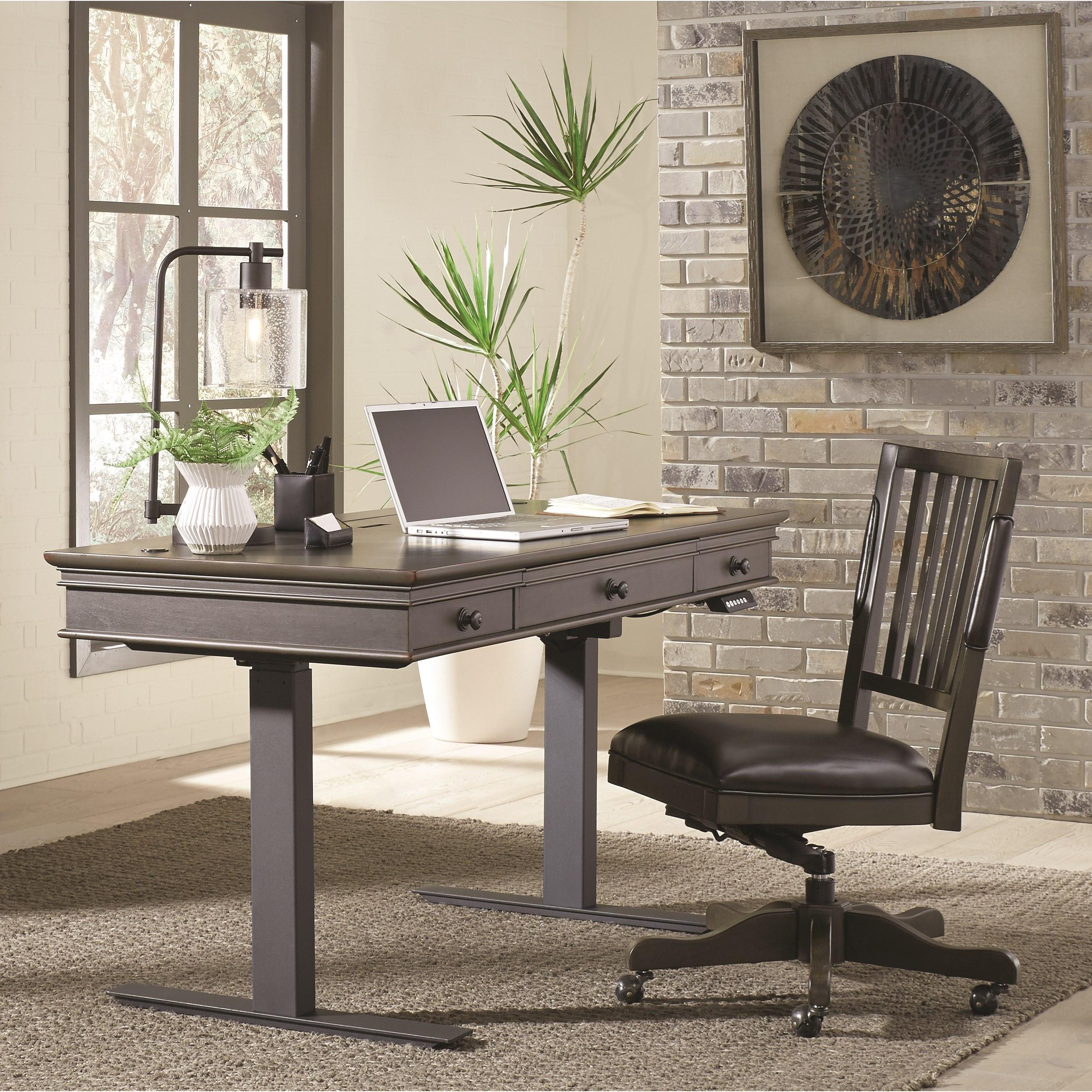 """Oxford 60"""" Adjustable Desk by Aspenhome at Walker's Furniture"""