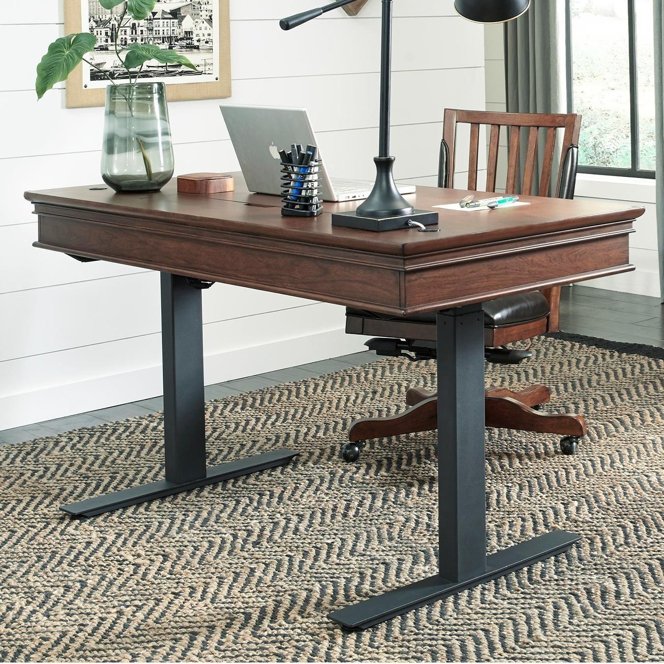 """Oxford 60"""" Adjustable Desk by Aspenhome at Baer's Furniture"""