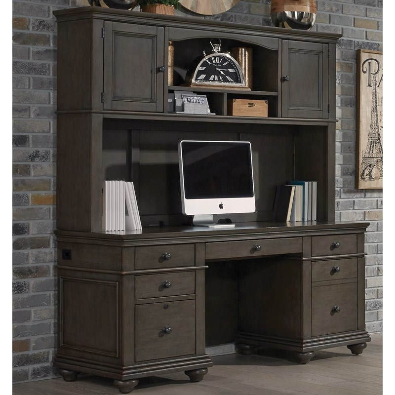 Oxford Credenza and Hutch by Aspenhome at Walker's Furniture