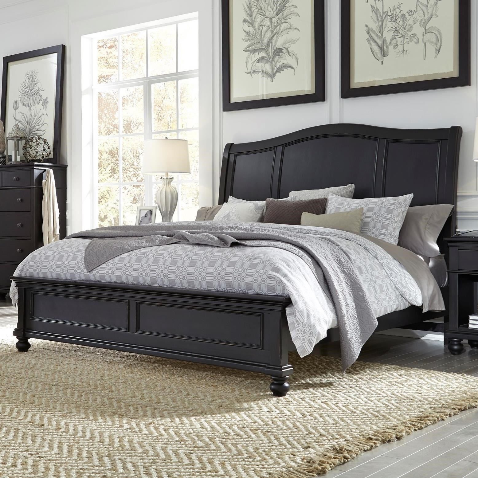 Oxford California King Sleigh Bed by Aspenhome at Walker's Furniture