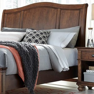 King Sleigh Headboard with USB Ports
