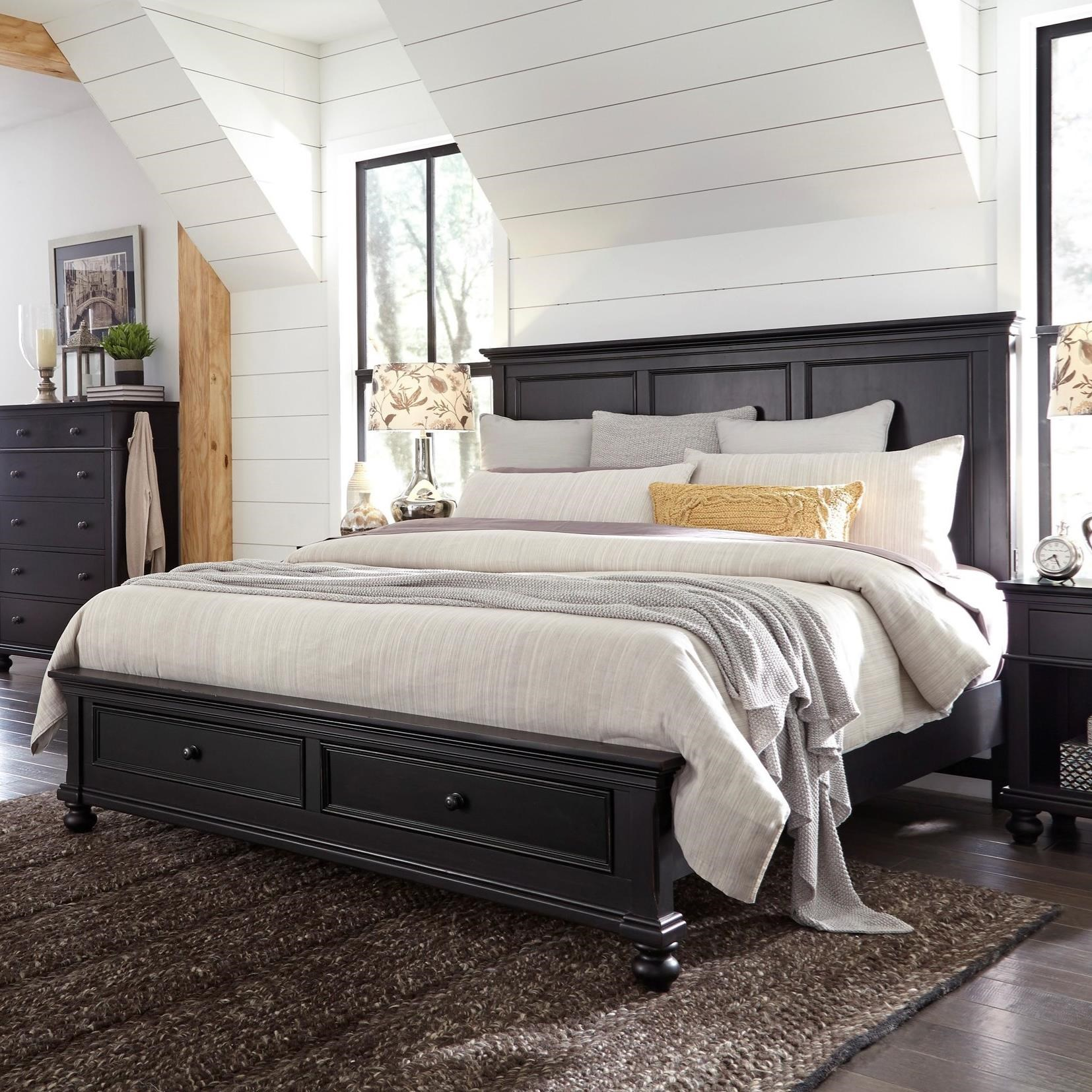 Oakford Oakford Queen Panel Storage Bed by Aspenhome at Morris Home