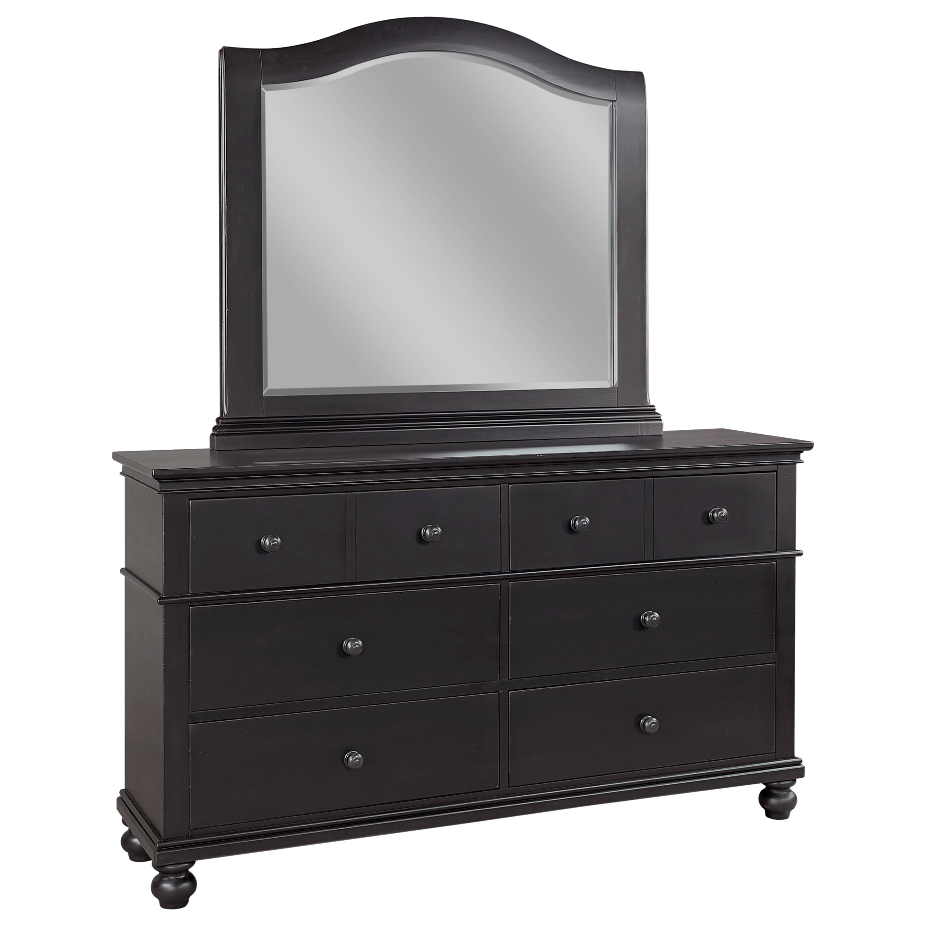 Oxford Dresser with Mirror by Aspenhome at Stoney Creek Furniture