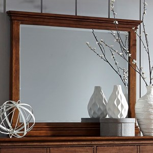 Transitional Landscape Mirror with Beveled Glass