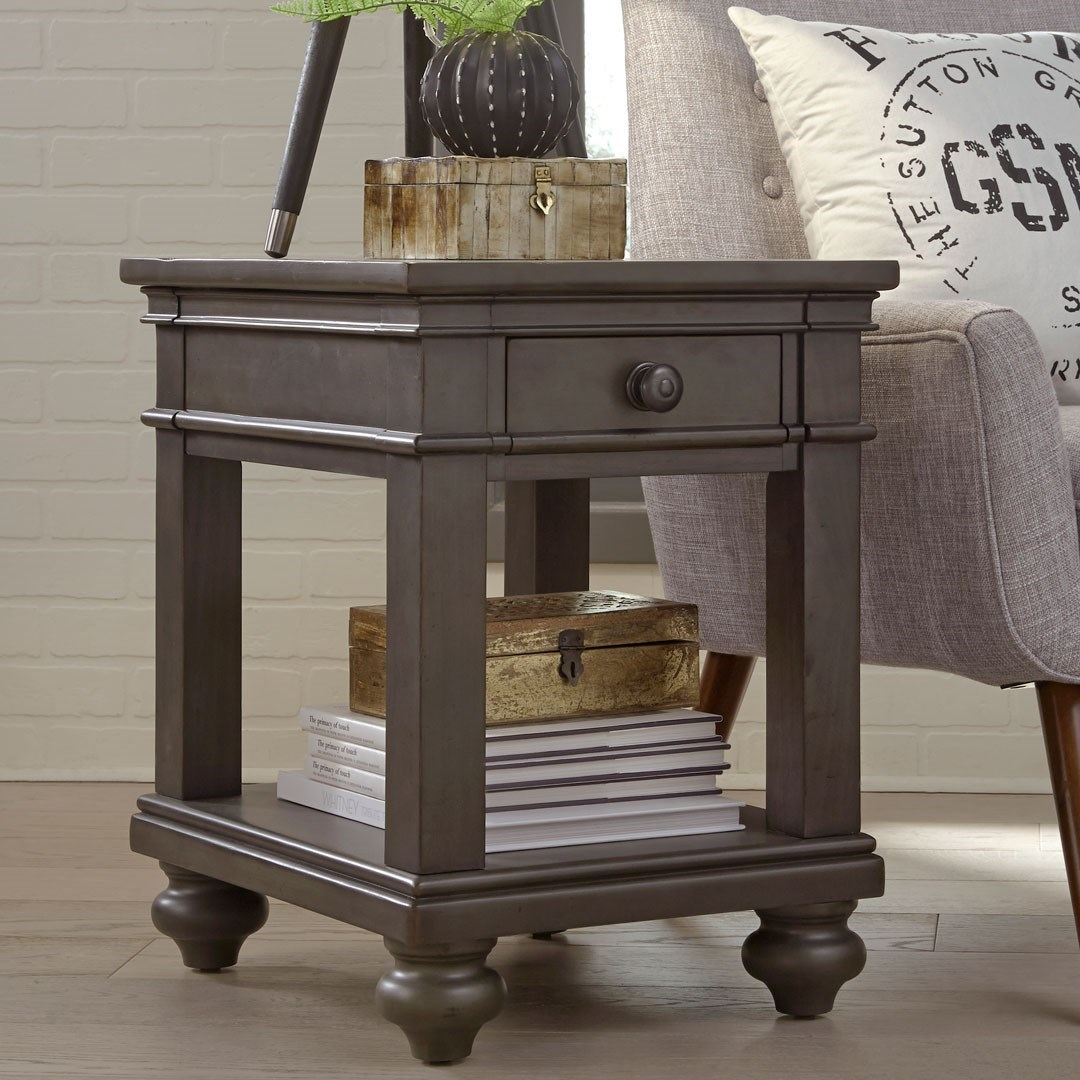 Oxford Chairside Table by Aspenhome at Walker's Furniture