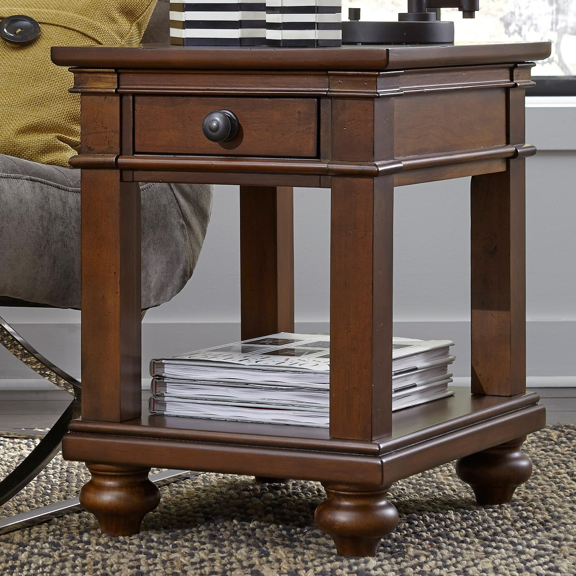 Oxford Chairside Table by Aspenhome at Baer's Furniture