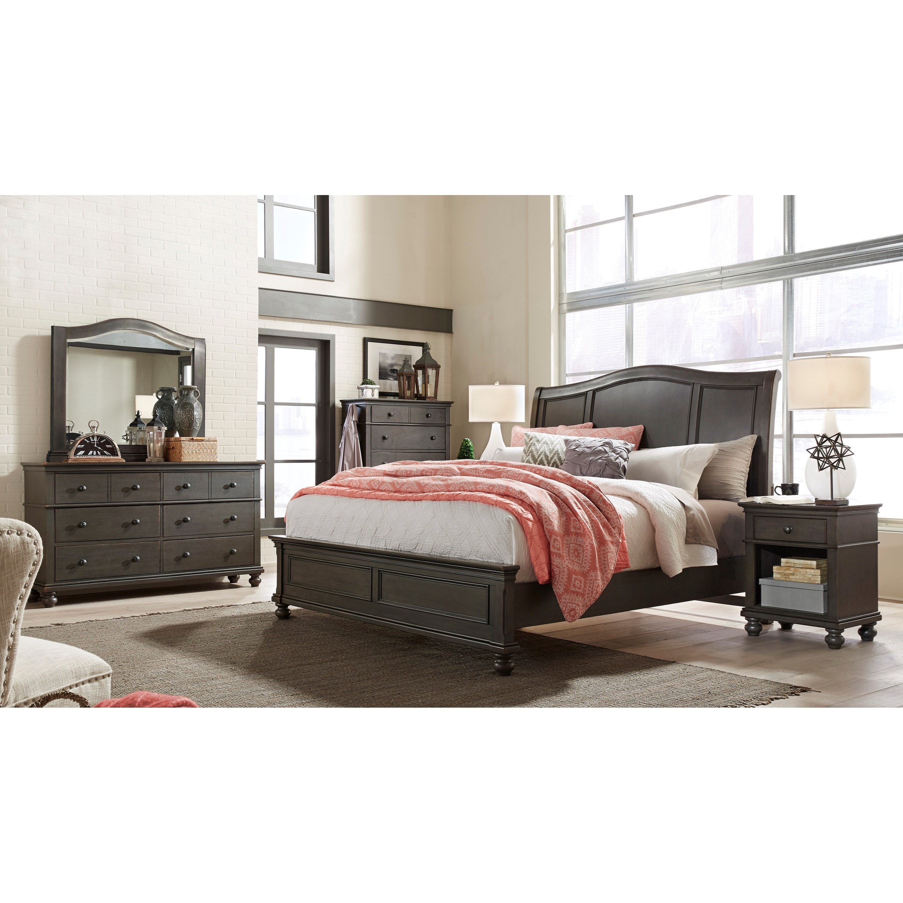 Oxford King Bedroom Group by Aspenhome at Walker's Furniture