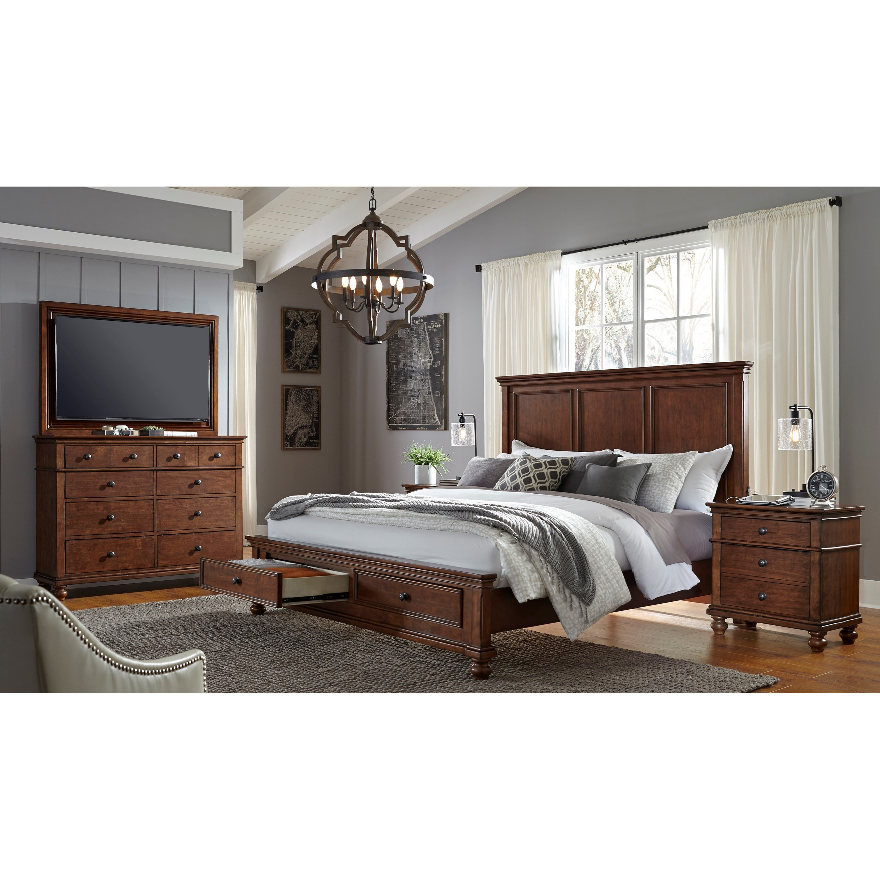 Oxford King Bedroom Group by Aspenhome at Baer's Furniture