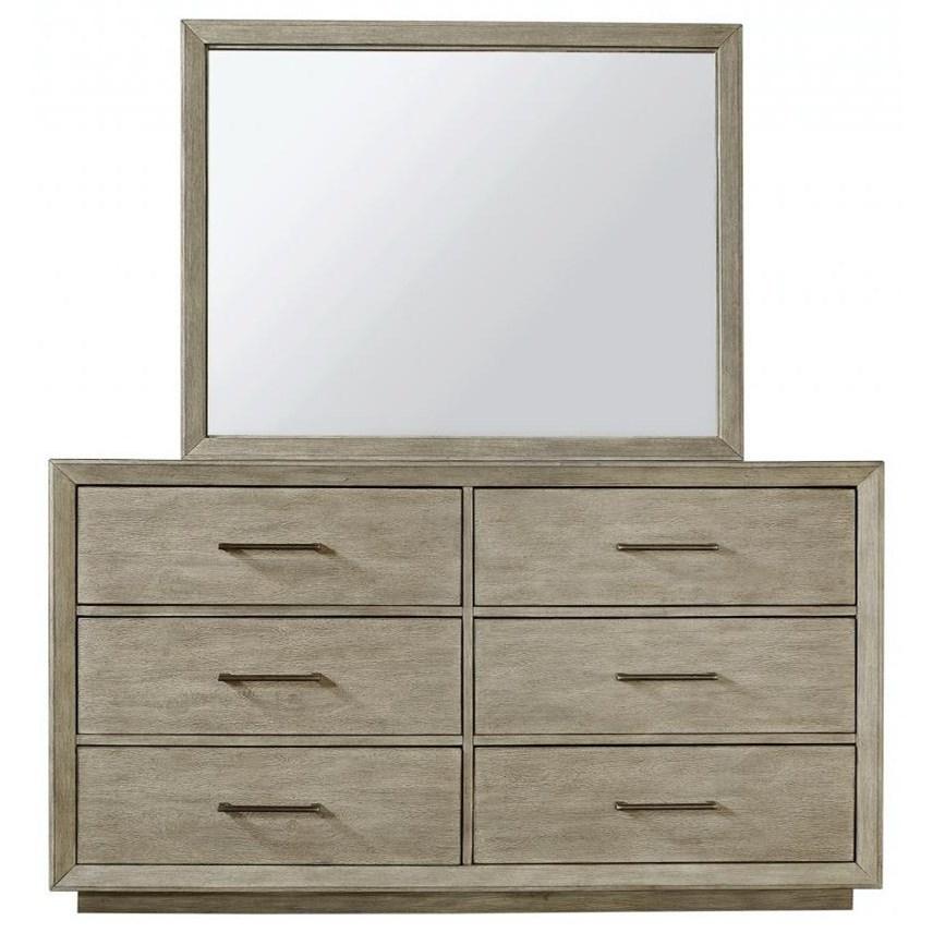 Platinum Dresser and Mirror Set by Aspenhome at Walker's Furniture