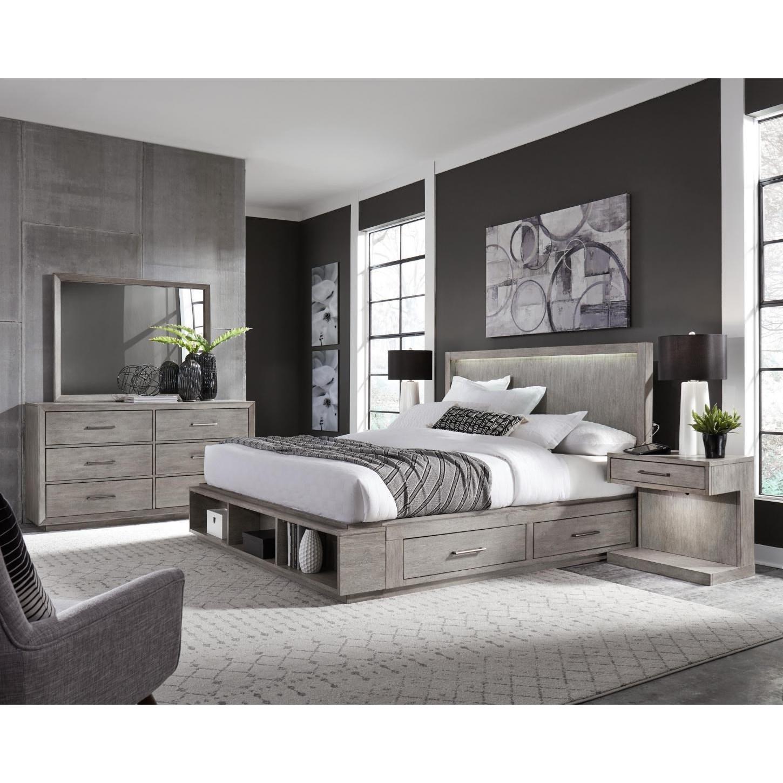 Platinum California King Bedroom Group at Sadler's Home Furnishings