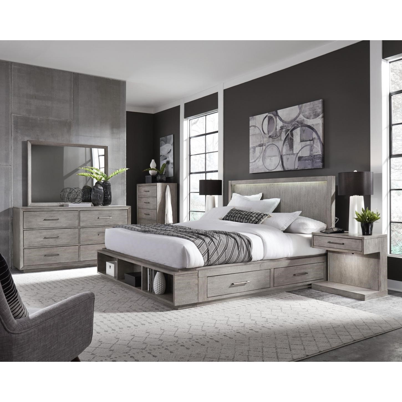 Platinum King Bedroom Group by Aspenhome at Walker's Furniture