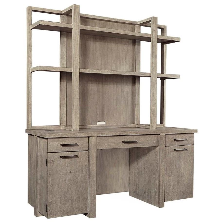 Platinum Desk and Hutch  by Aspenhome at Baer's Furniture