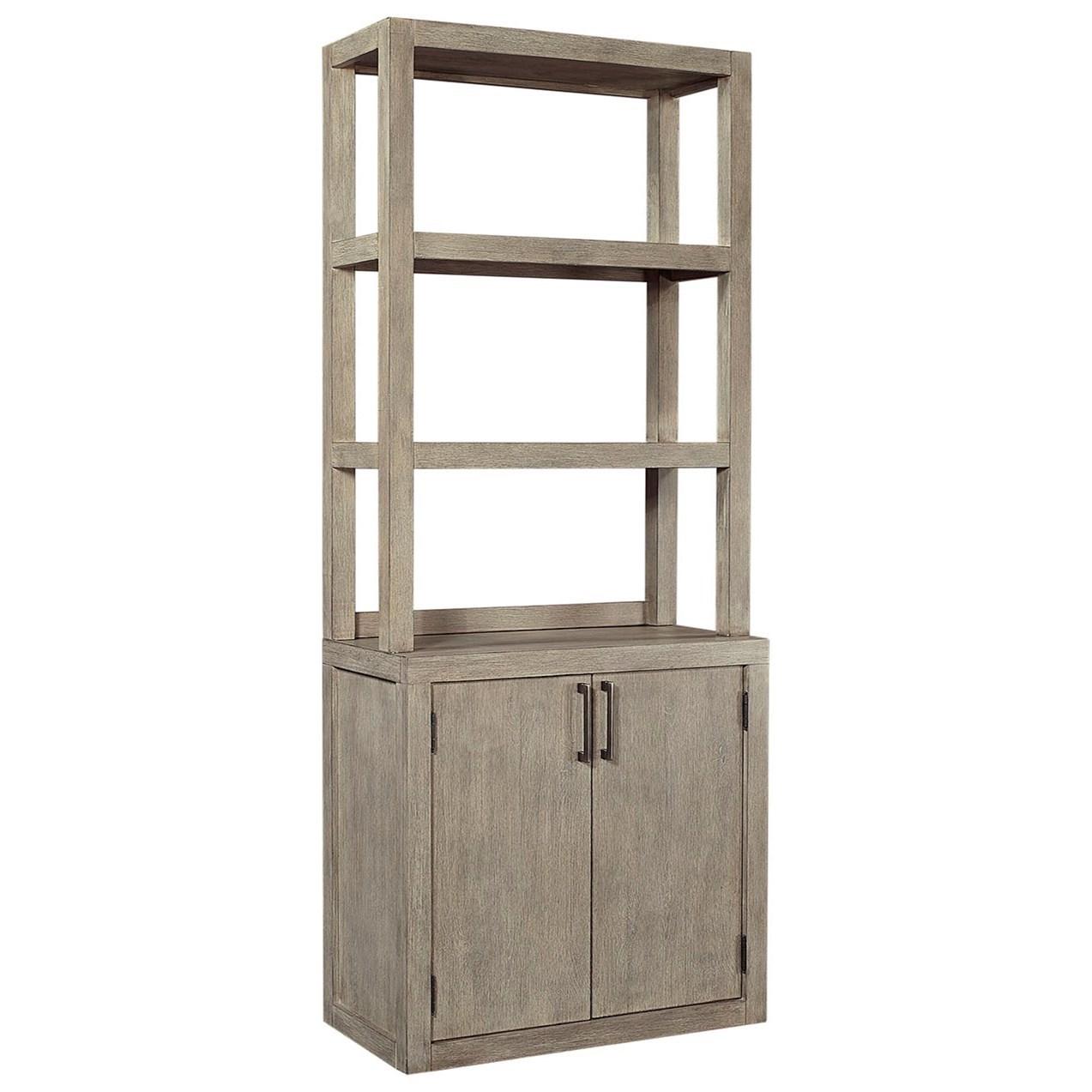 Platinum Bookcase by Aspenhome at Walker's Furniture