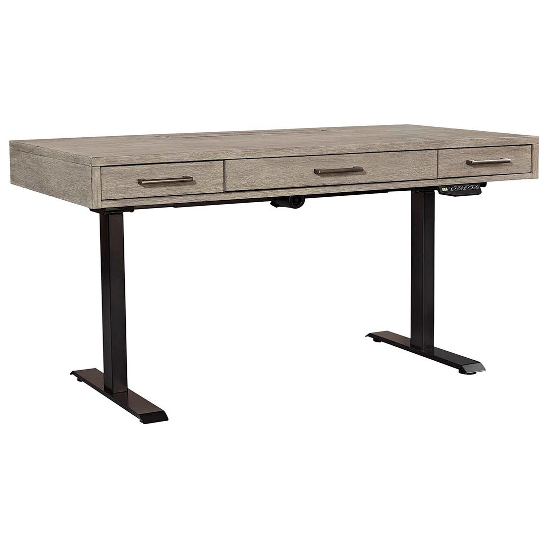 Platinum Adjustable Height Desk by Aspenhome at Baer's Furniture