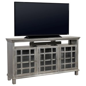"65"" Console with 3 Glass Doors"
