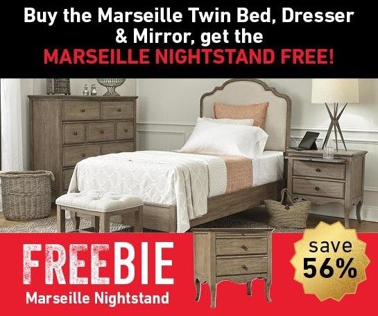 Marseille  Marseille Bedroom Group with FREEBIE! by Aspenhome at Morris Home