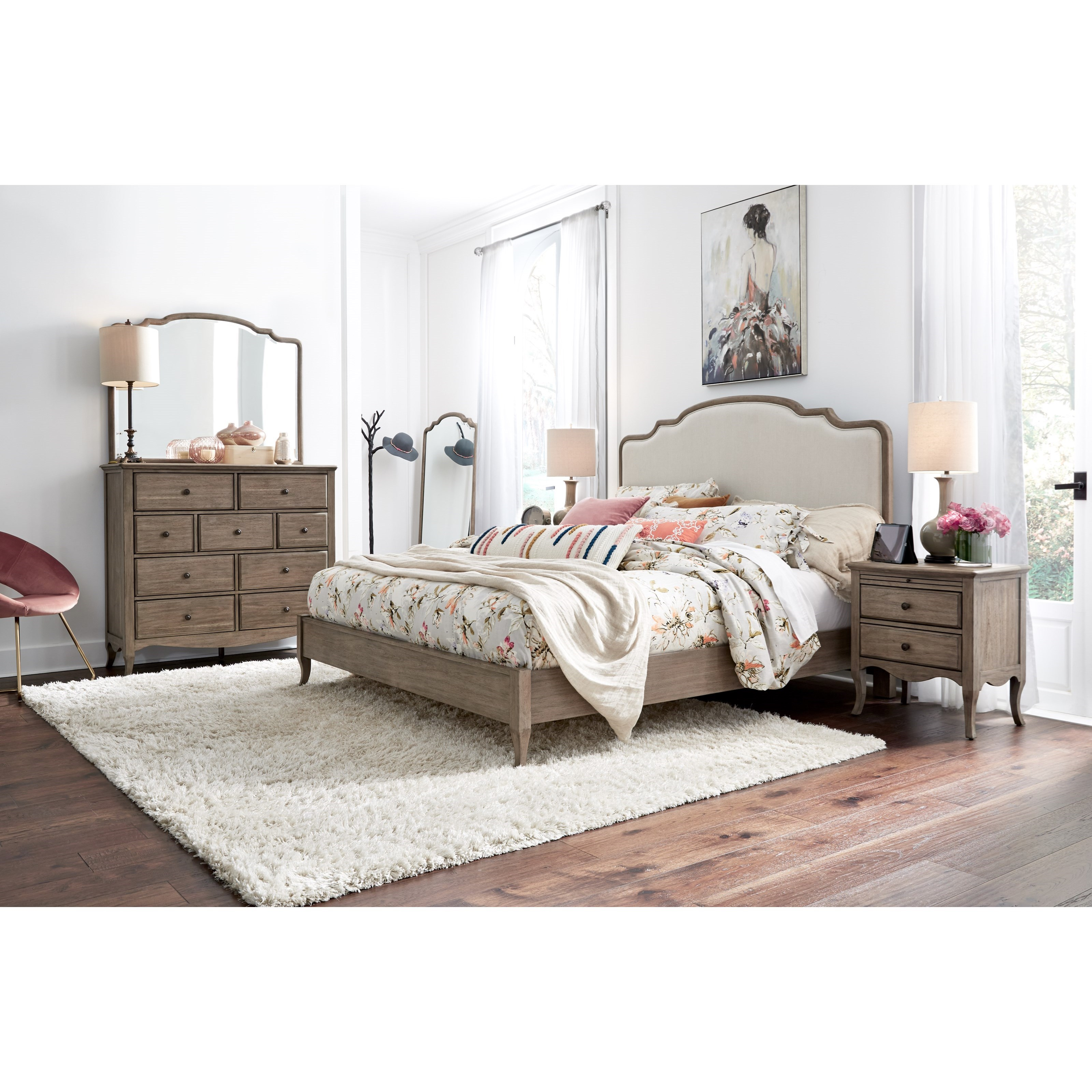 Provence Queen Bedroom Group by Aspenhome at Fashion Furniture