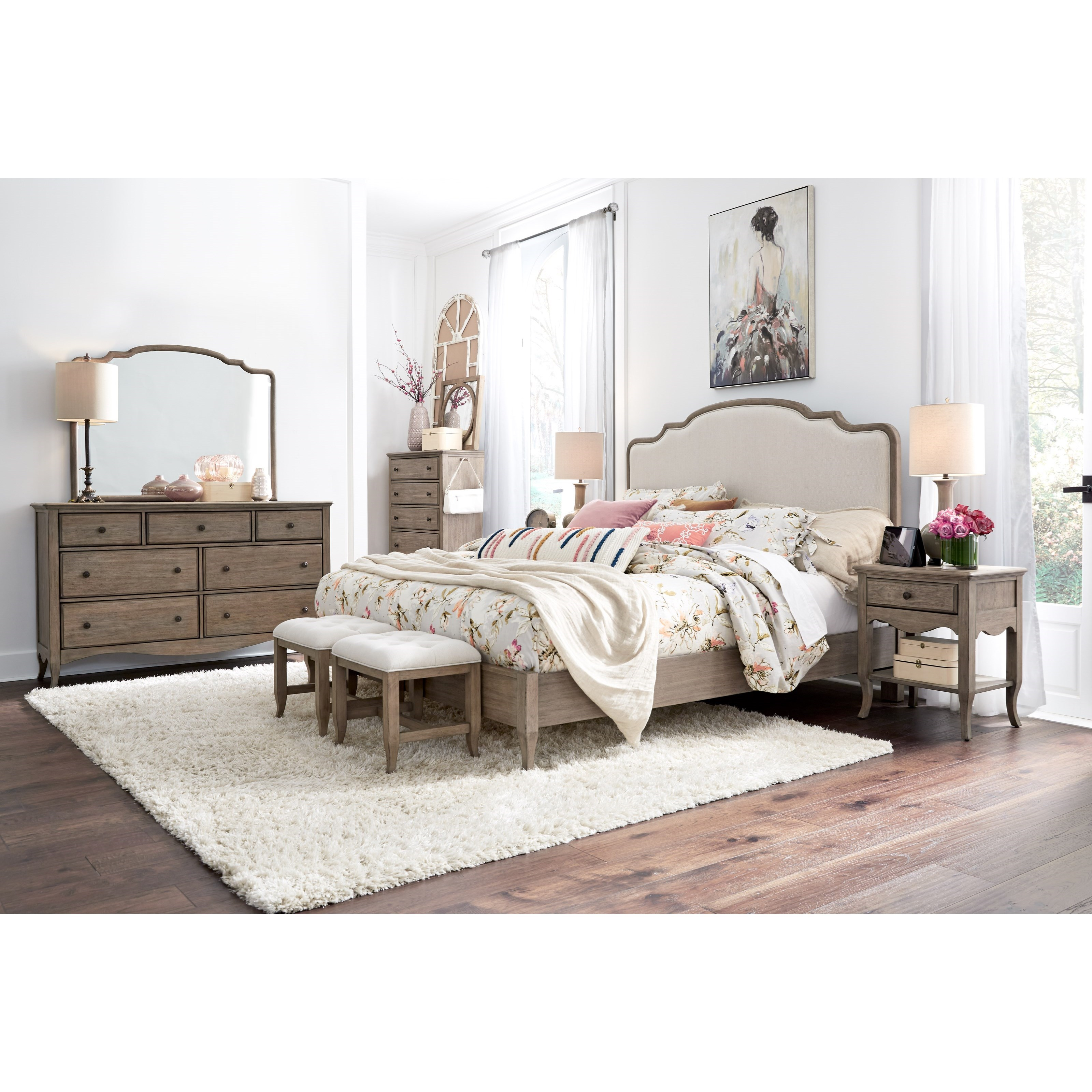 Provence King Bedroom Group by Aspenhome at Walker's Furniture