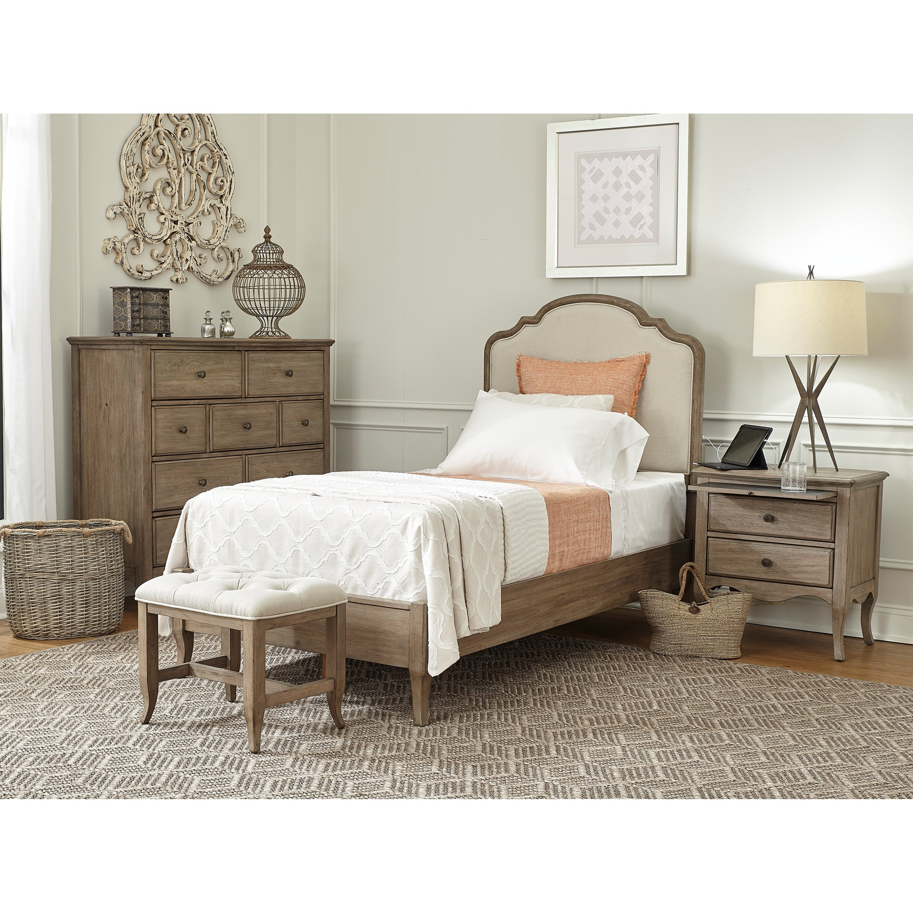 Provence Twin Bedroom Group by Aspenhome at Baer's Furniture