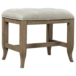 Casual Bench with Button Tufted Upholstered Seat
