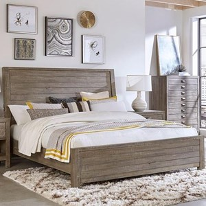 Queen Sleigh Bed with Built-in USB Chargers
