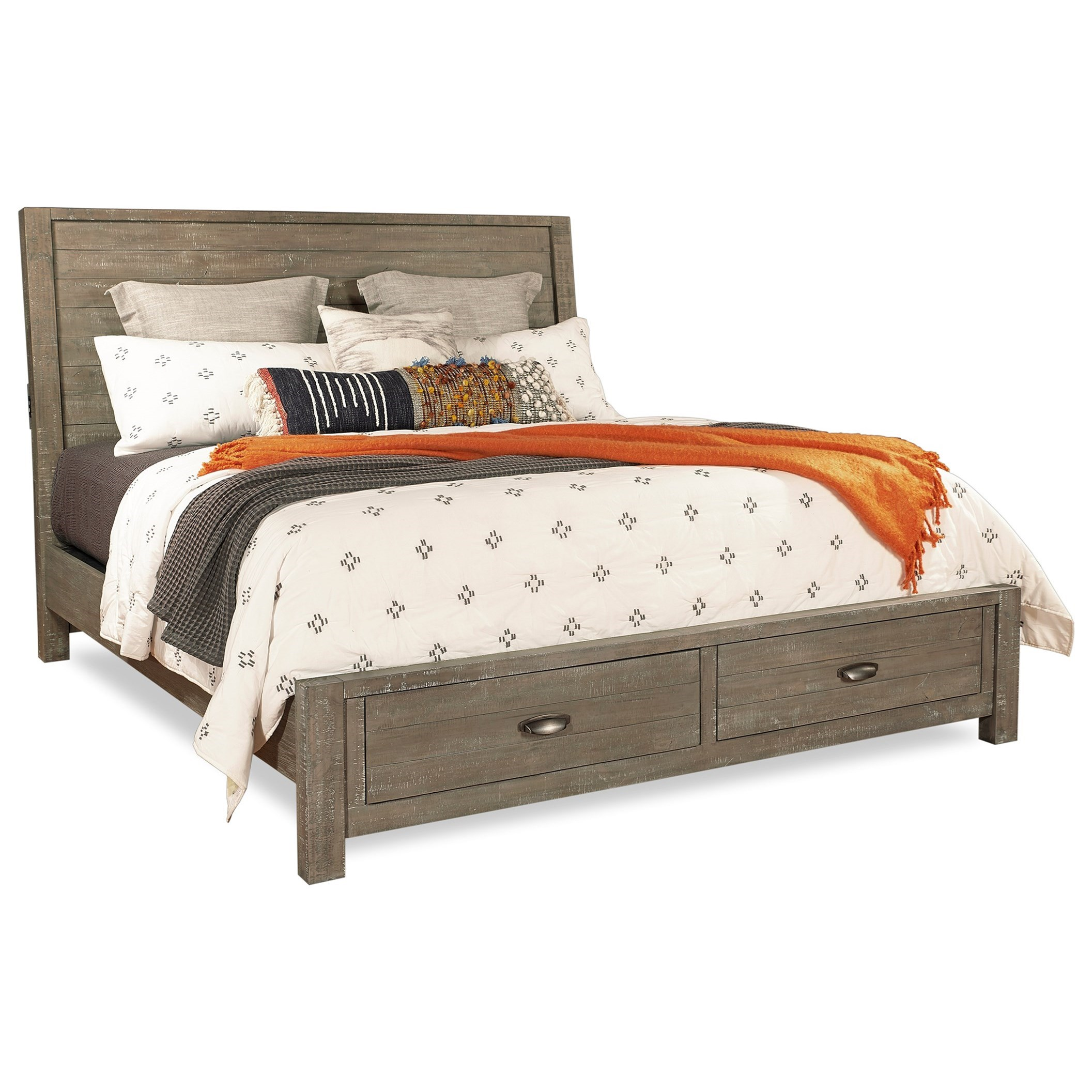 Radiata Cal King Sleigh Storage Bed by Aspenhome at Walker's Furniture