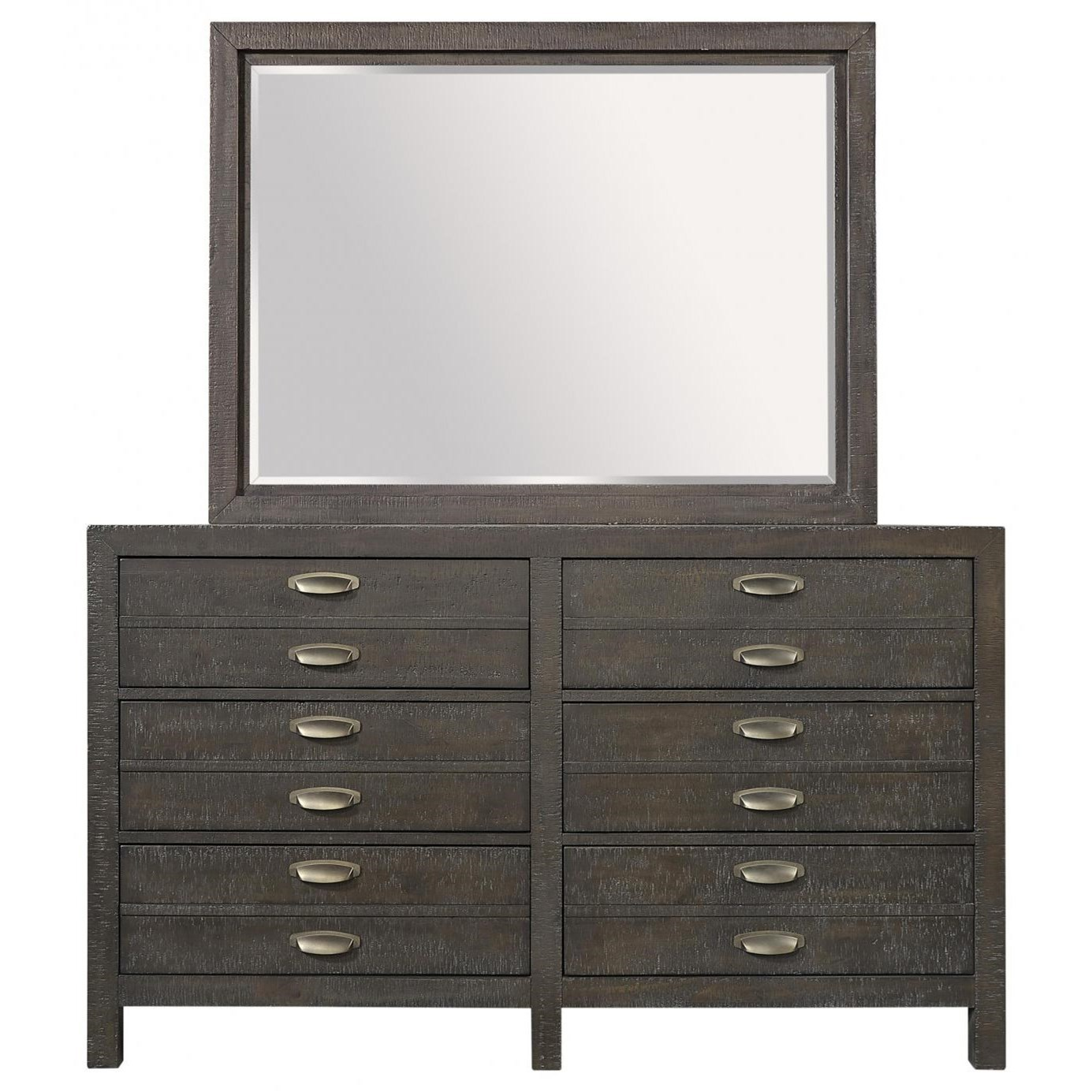 Radiata Dresser Mirror Combo by Aspenhome at Walker's Furniture