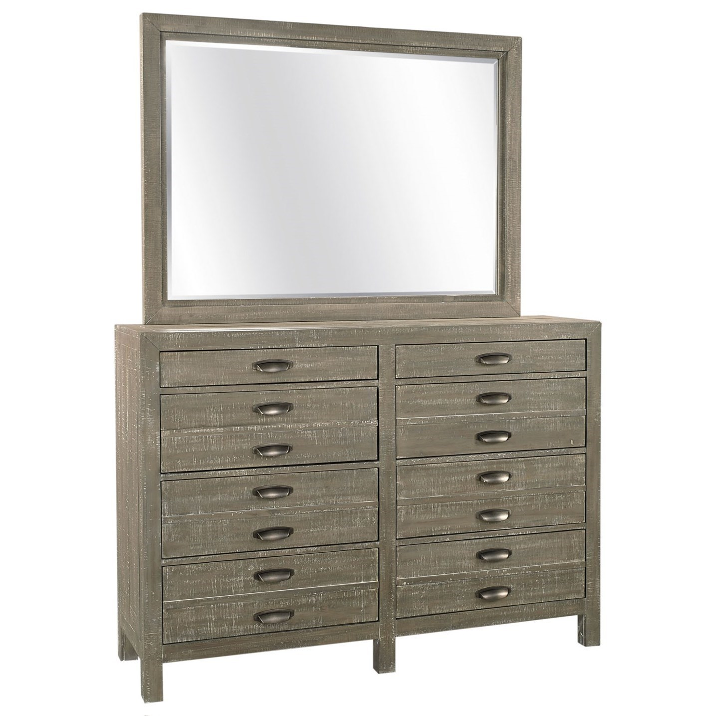 Radiata Chesser Mirror Combo by Aspenhome at Walker's Furniture
