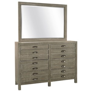 8 Drawer Chesser Mirror Combo