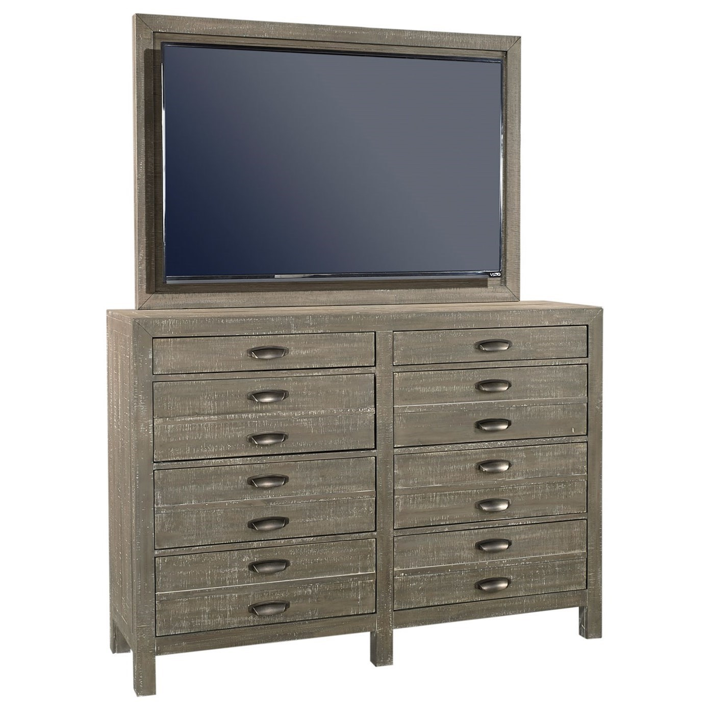 Radiata Chesser with TV Mount by Aspenhome at Walker's Furniture