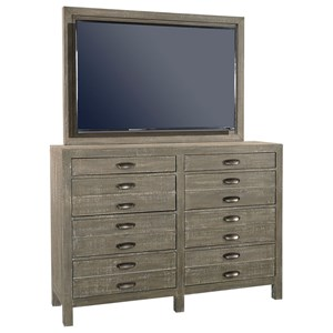 8 Drawer Chesser with TV Mount