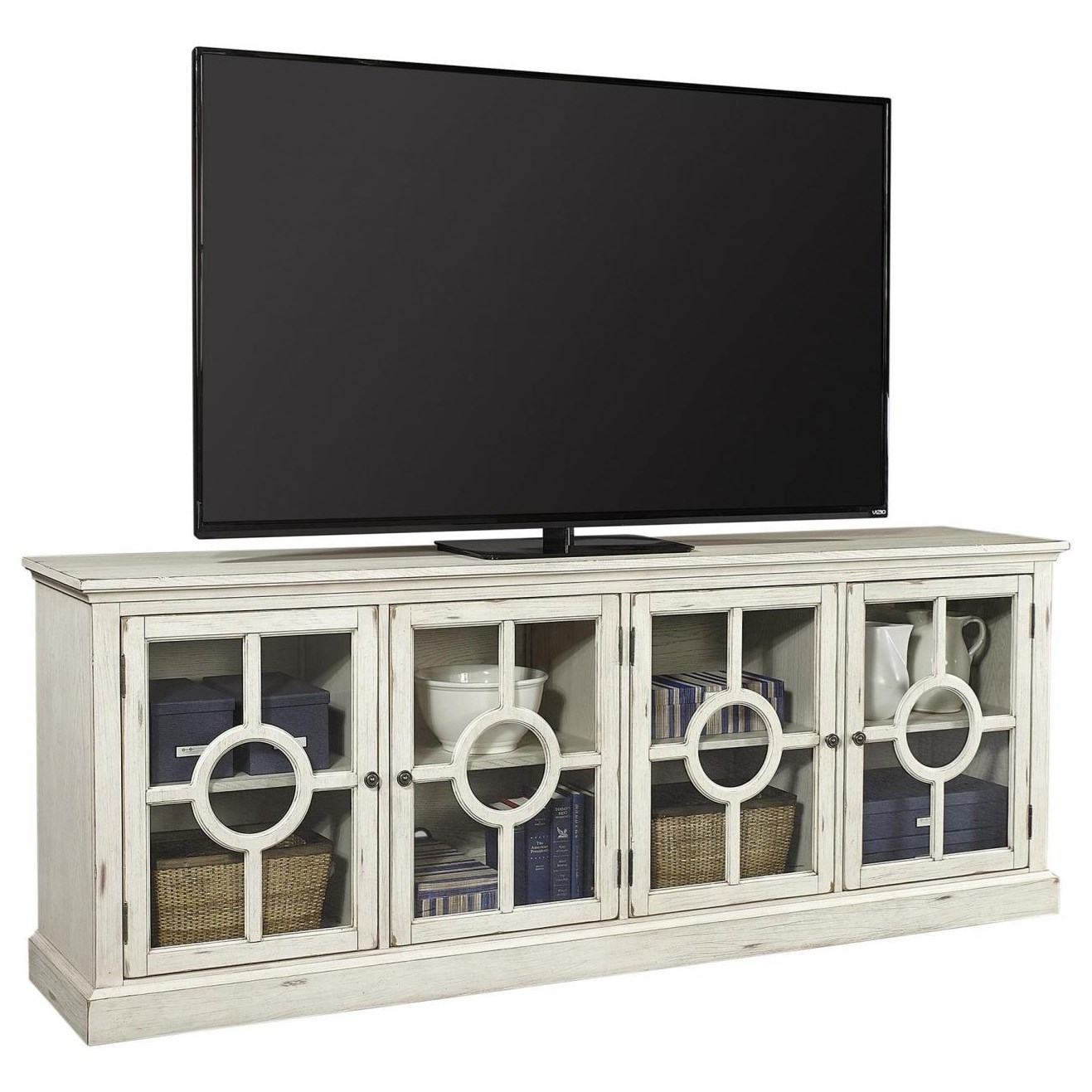 """Radius  86"""" TV Stand  by Aspenhome at Walker's Furniture"""