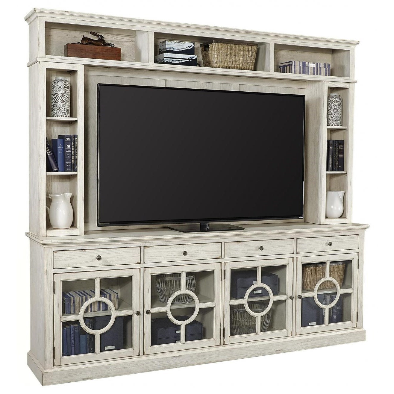 """Radius  96"""" TV Stand and Hutch by Aspenhome at Stoney Creek Furniture"""