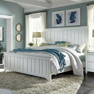Queen Farmhouse Panel Bed with USB Charging Ports