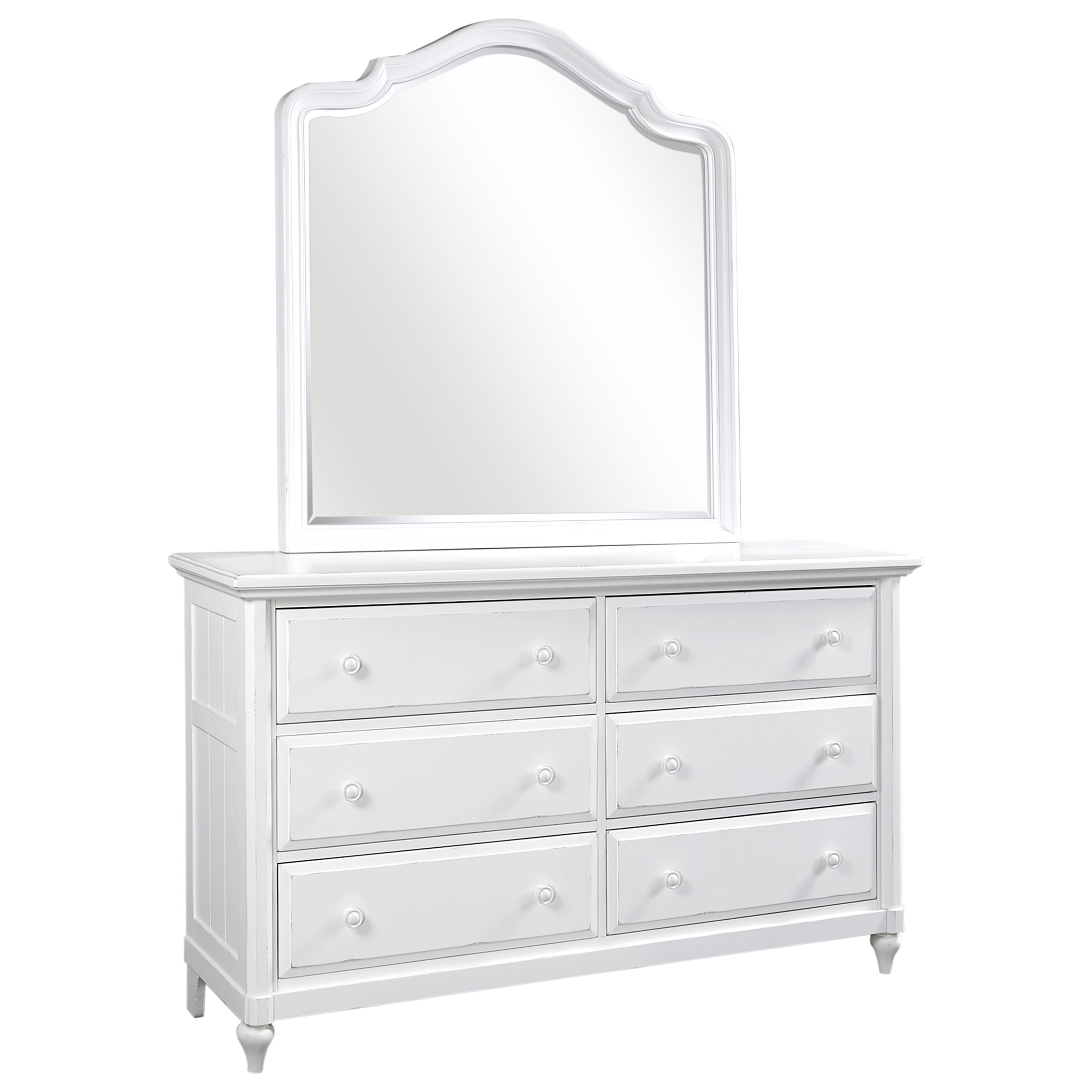 Retreat Dresser and Poster Mirror by Aspenhome at Gill Brothers Furniture