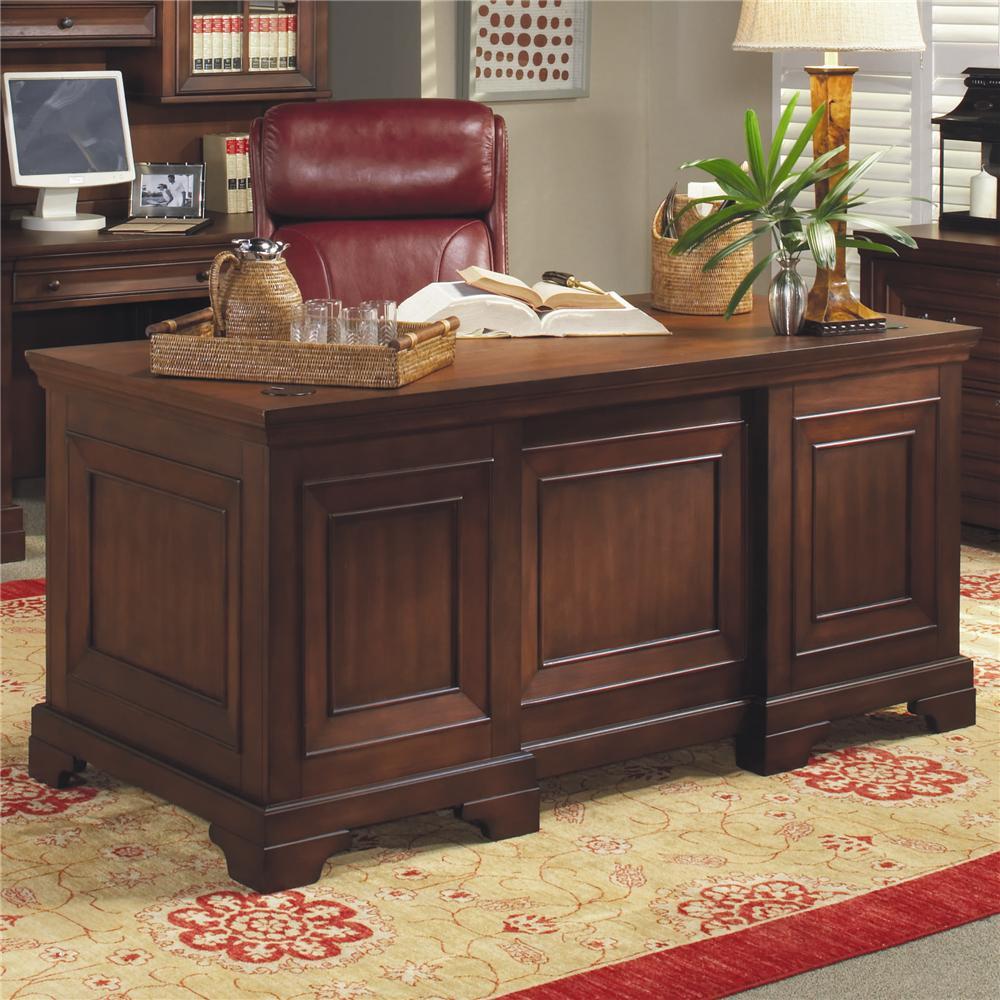 "Richmond 66"" Executive Desk by Aspenhome at Crowley Furniture & Mattress"