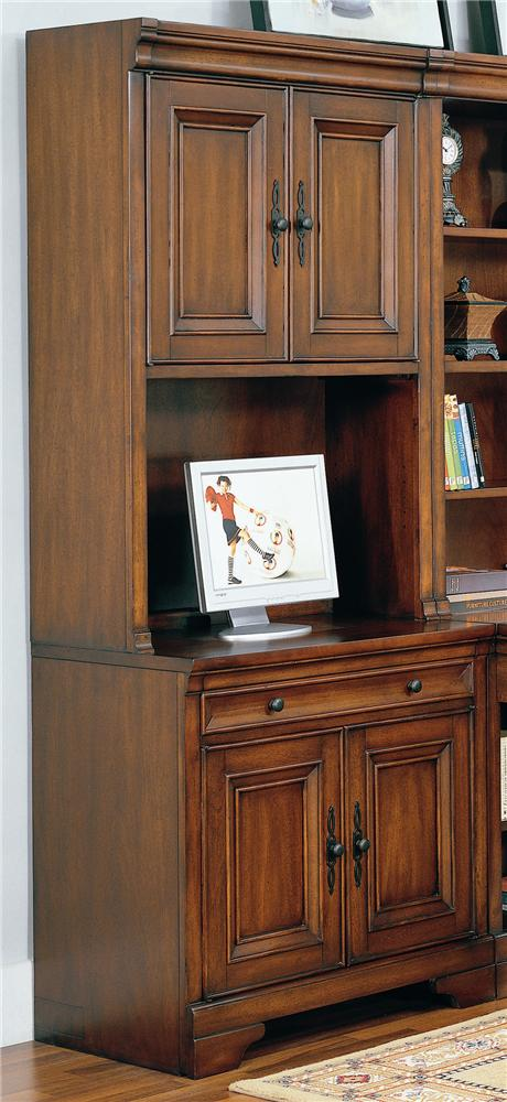 """Richmond 34"""" Computer Desk and Door Hutch by Aspenhome at Walker's Furniture"""