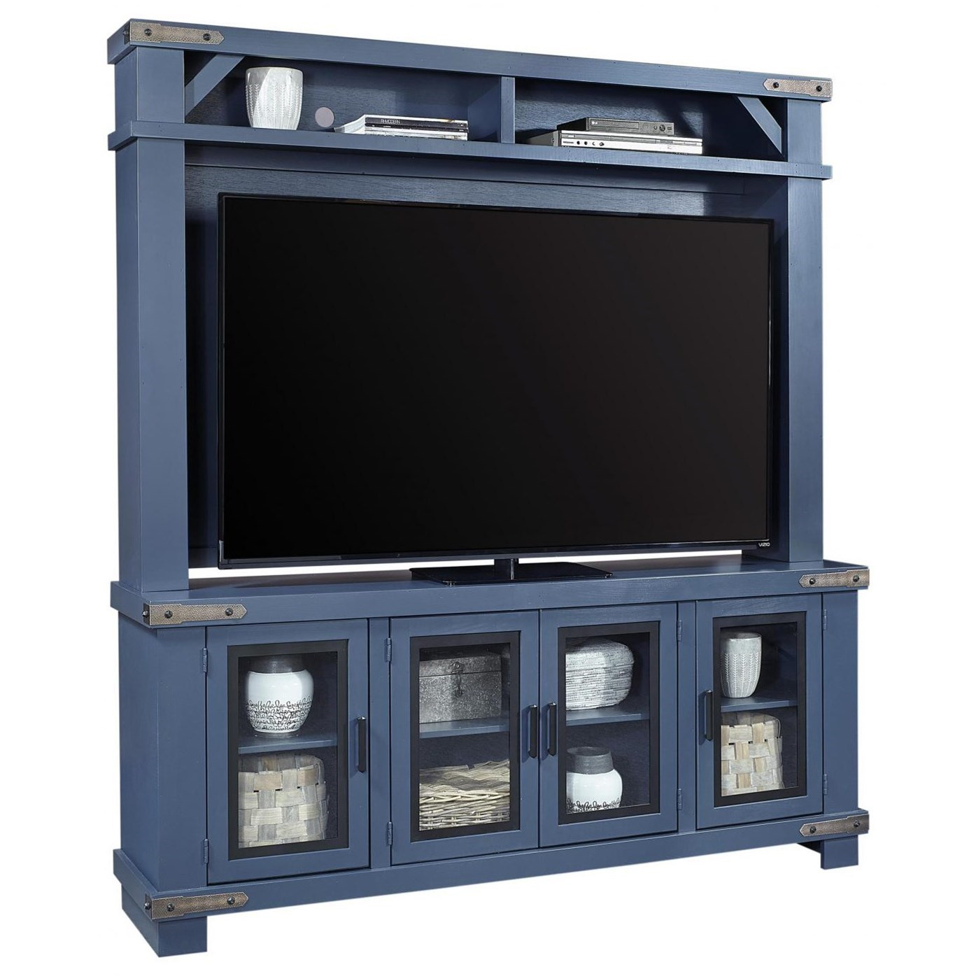 """Sawyer 78"""" Console and Hutch by Aspenhome at Walker's Furniture"""