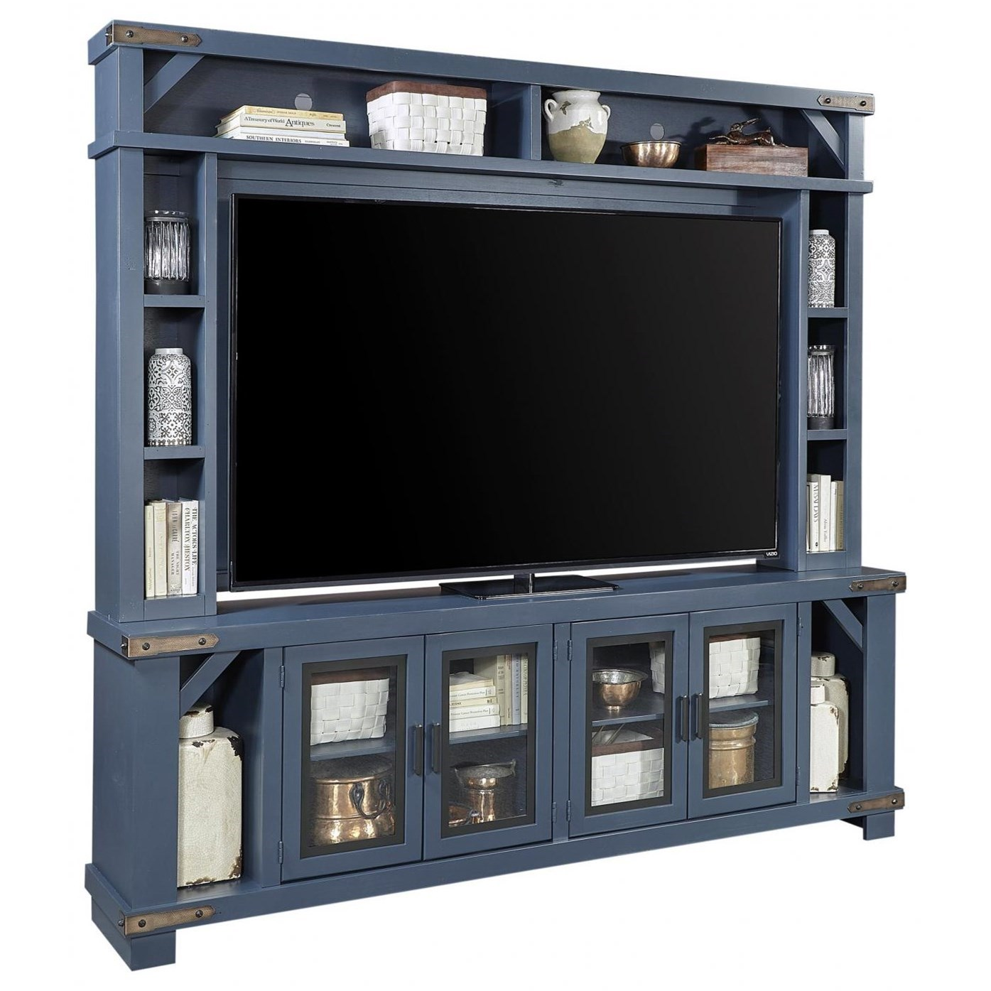 """Sawyer 98"""" Console and Hutch by Aspenhome at Walker's Furniture"""