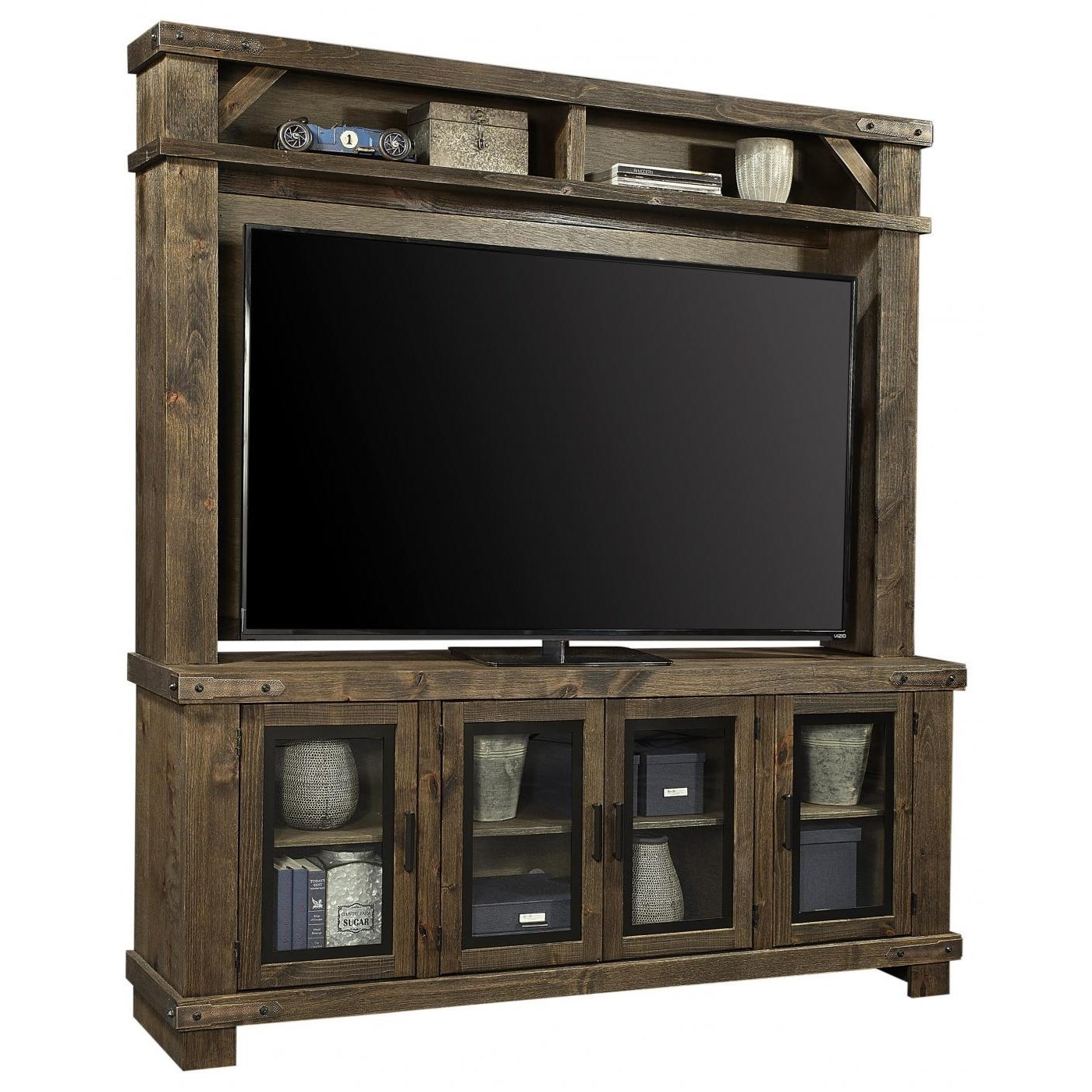 """Sawyer 78"""" Console and Hutch by Aspenhome at Stoney Creek Furniture"""