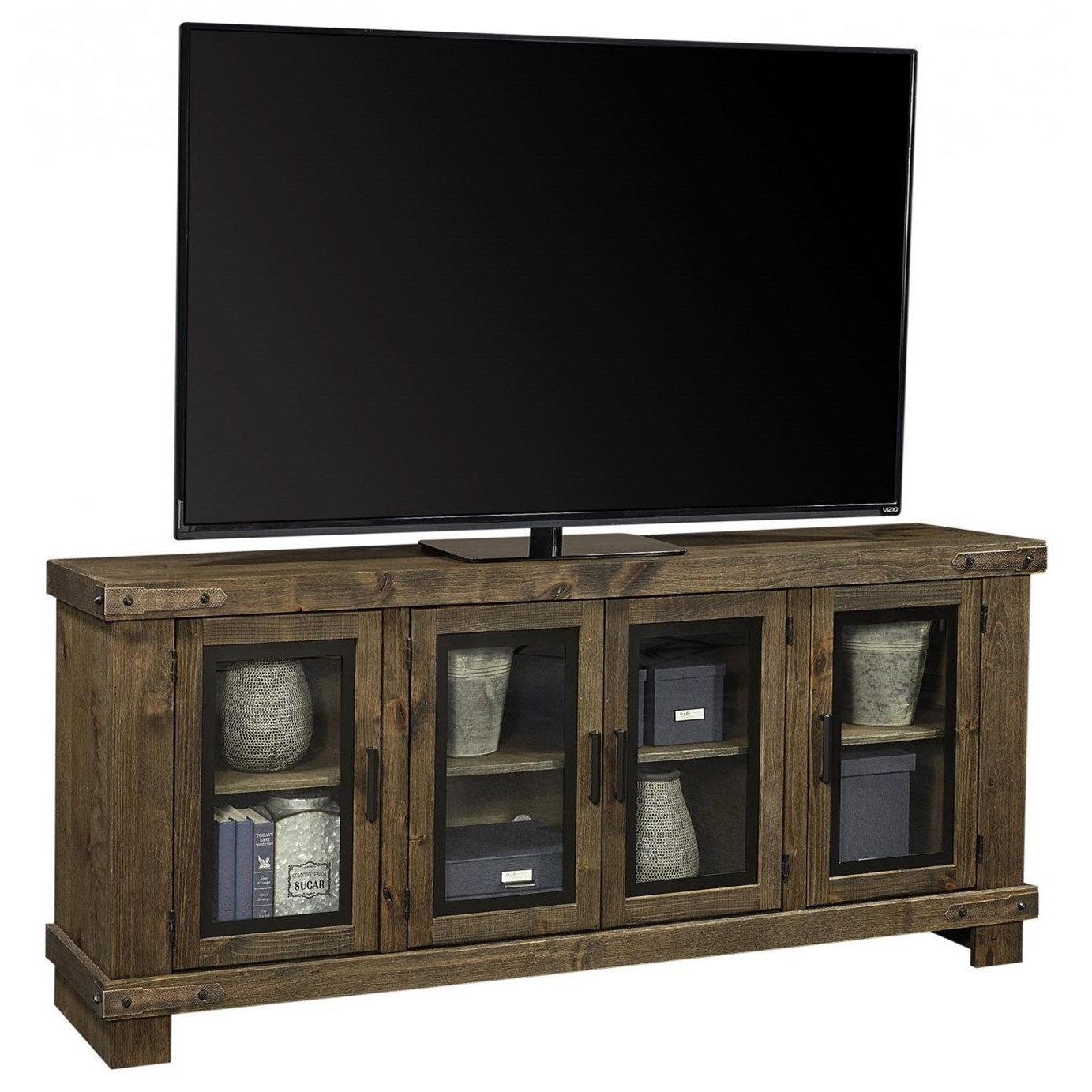 "Sawyer 78"" Console by Aspenhome at Walker's Furniture"