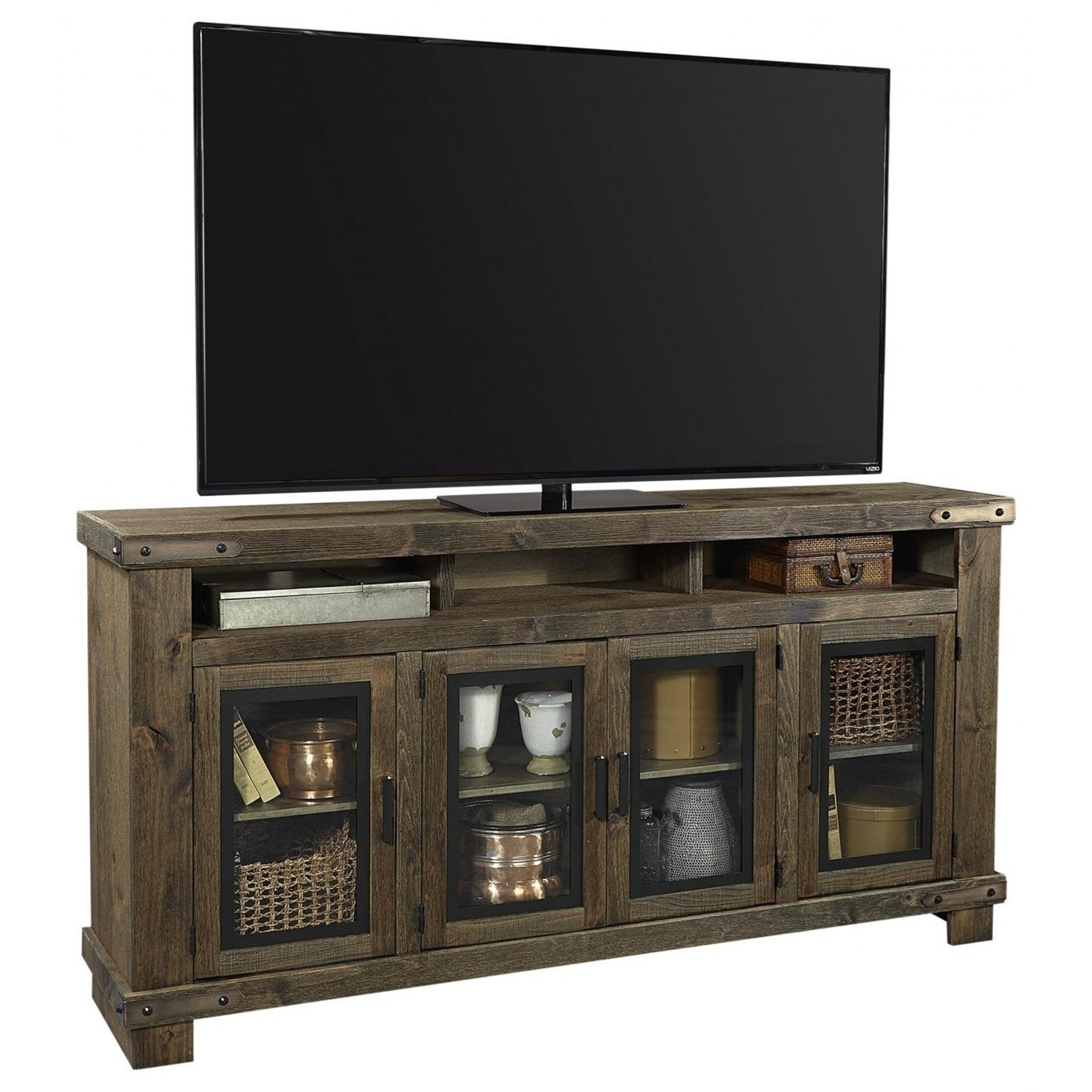 """Sawyer 78"""" Highboy Console by Aspenhome at Walker's Furniture"""