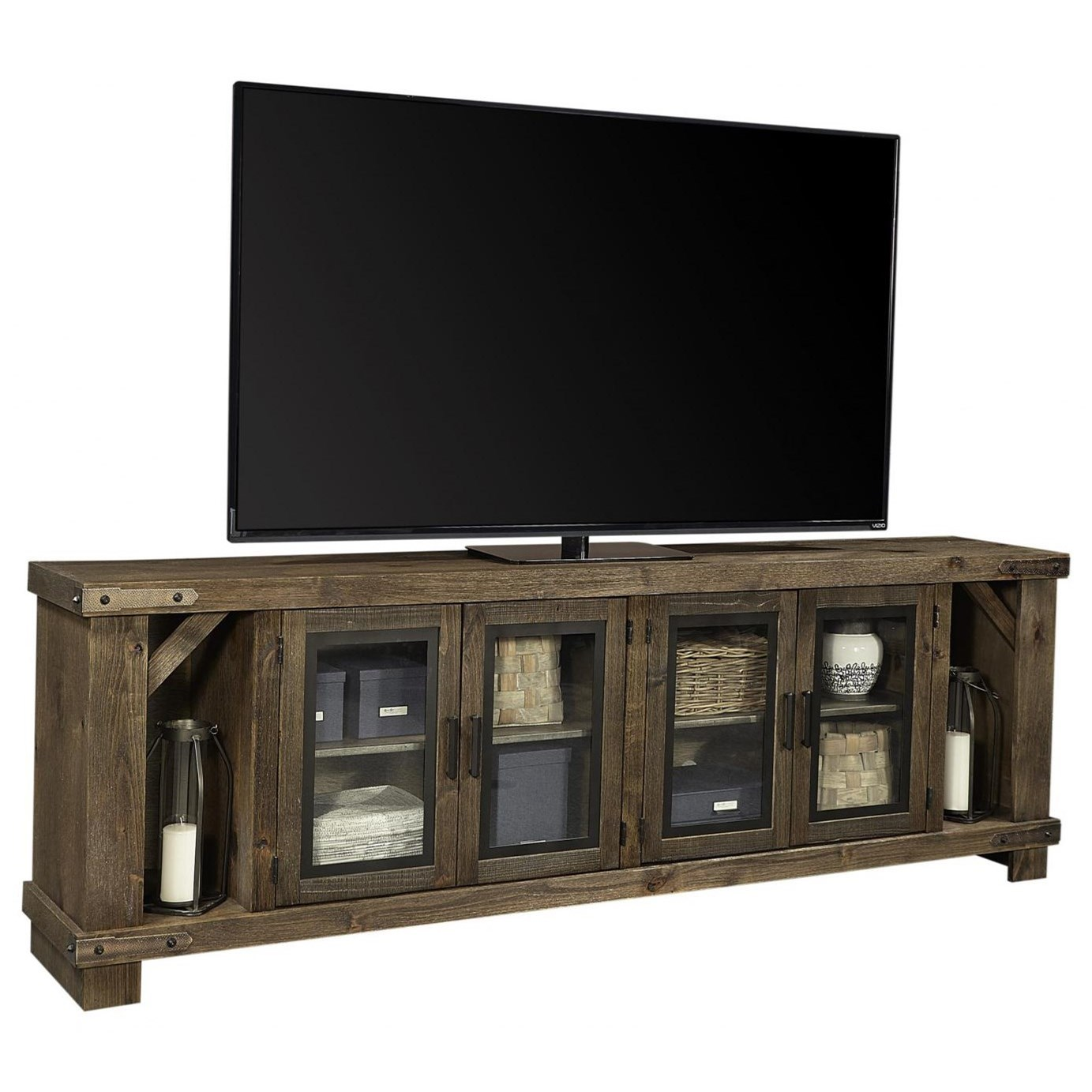 """Sawyer 98"""" Console by Aspenhome at Walker's Furniture"""