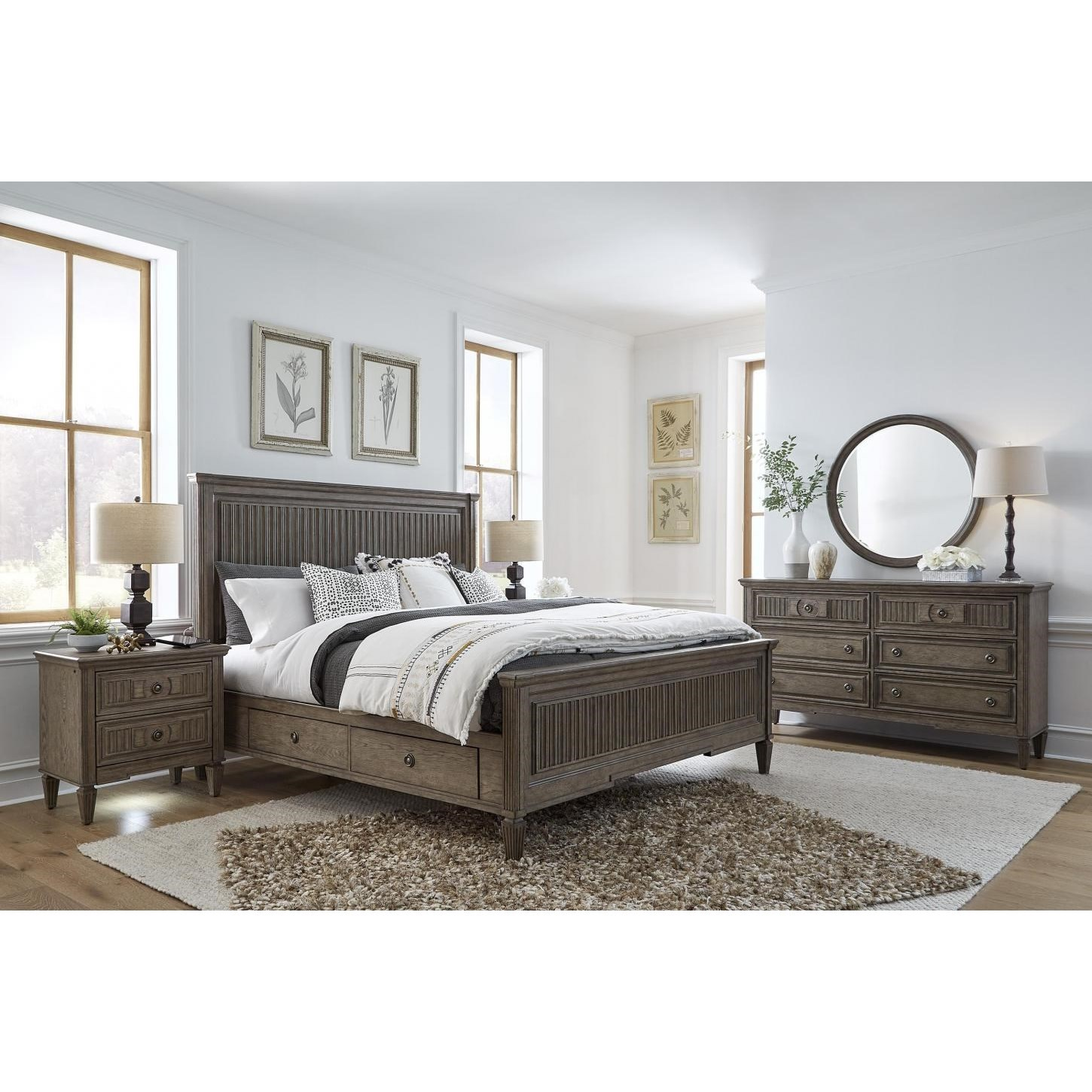 Strasbourg Queen Storage Bed Bedroom Group by Aspenhome at Walker's Furniture