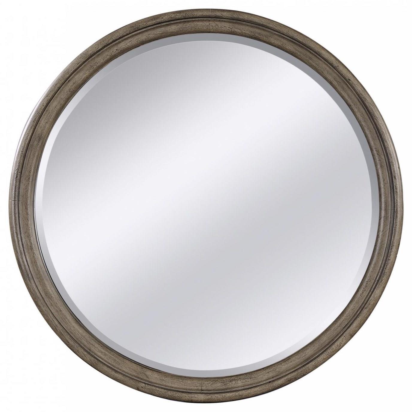 Strasbourg Round Mirror by Aspenhome at Walker's Furniture
