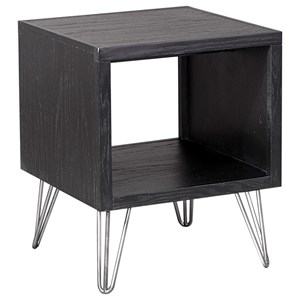 End Table with Splayed Metal Legs